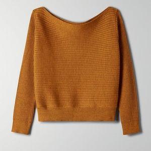 Aritzia Babaton Luc brown sweater